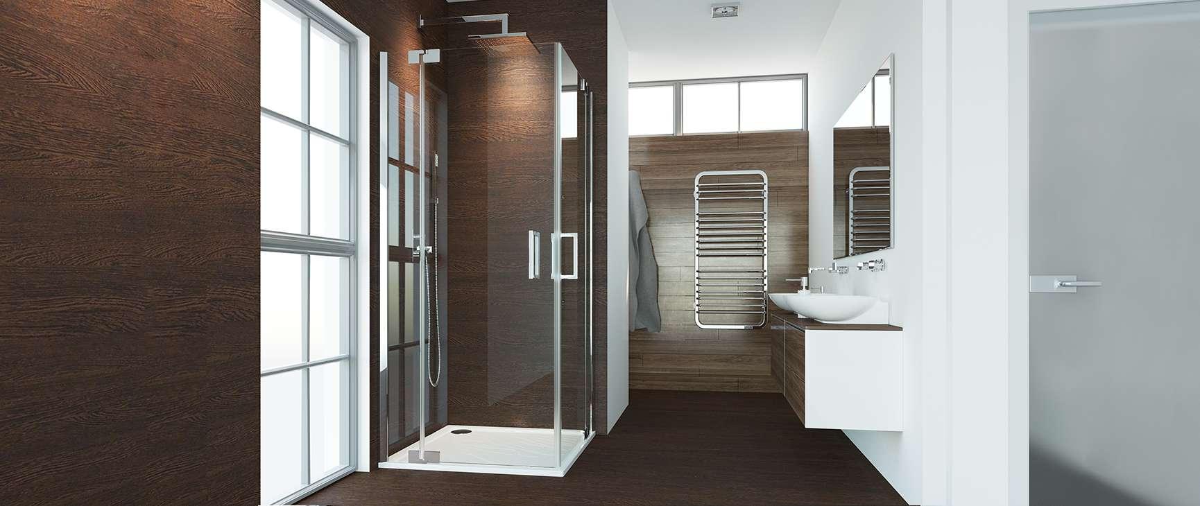 einfache duschabtrennung nach maß